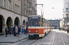 Tatra KT4D 456 at the Hauptbahnhof on 8th April 1991.