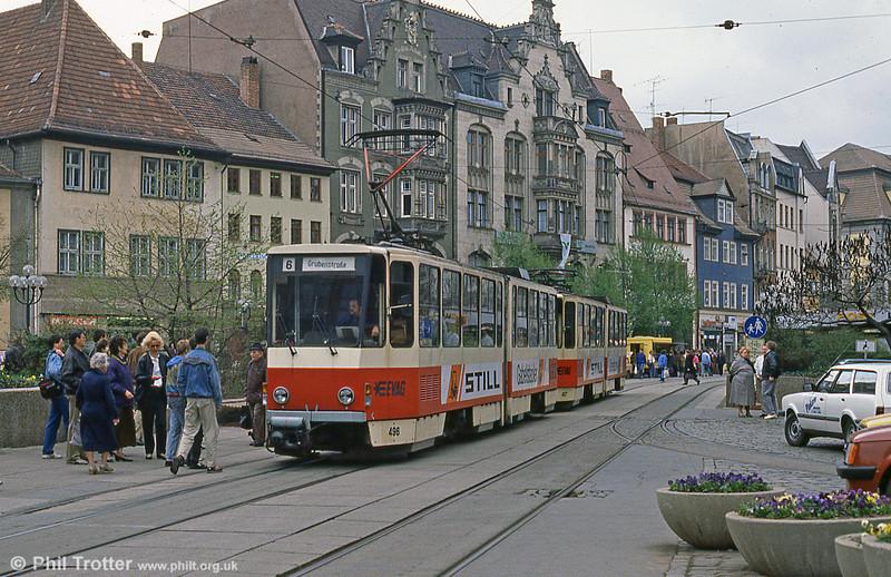 Tatra KT4D 496 at Anger on 8th April 1991.