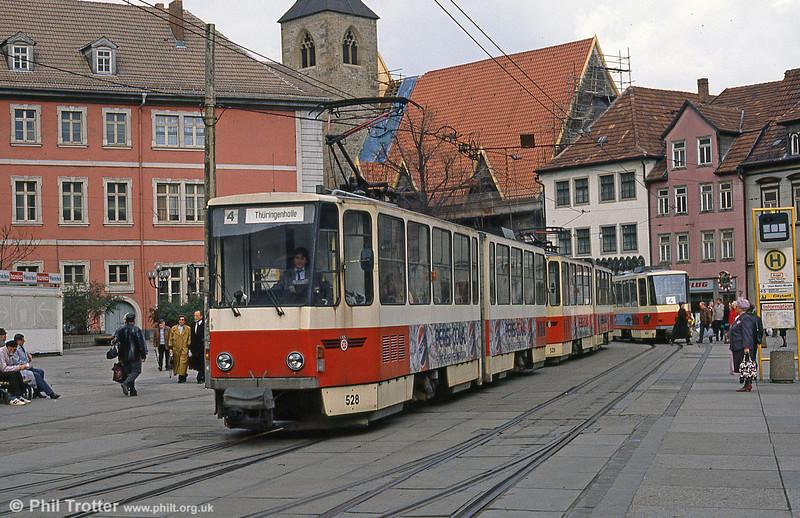 Tatra KT4D 528 at Anger on 8th April 1991.