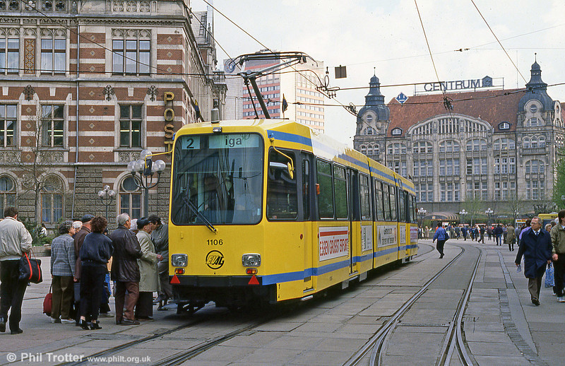 Essen 1106 operating on trial in Erfurt in on 8th April 1991.