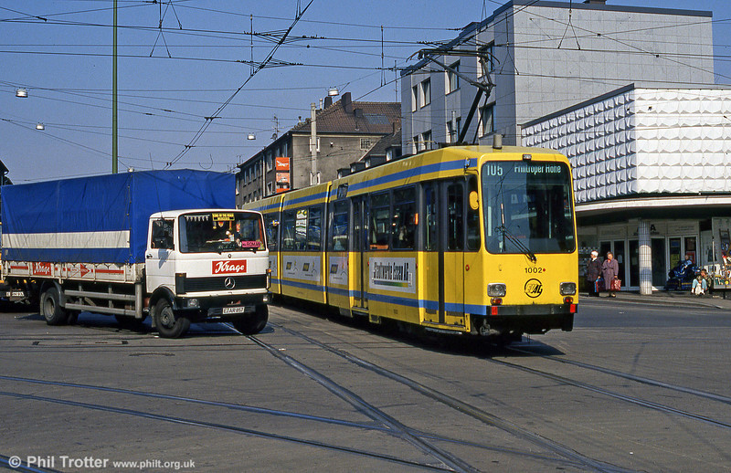 Essen 1002 at Helenenstrasse on 19th April 1994.