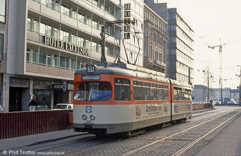 Frankfurt (Main) 639 at Baselerstrasse on 2nd April 1991.