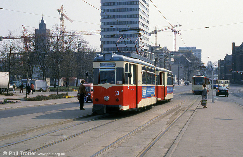 Frankfurt (Oder) 1961-built Gotha T57 no. 33 at Platz der Republik.