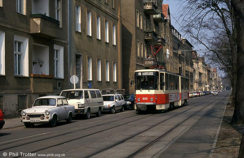 Frankfurt (Oder) Tatrat KT4D no. 232 near Stadion.