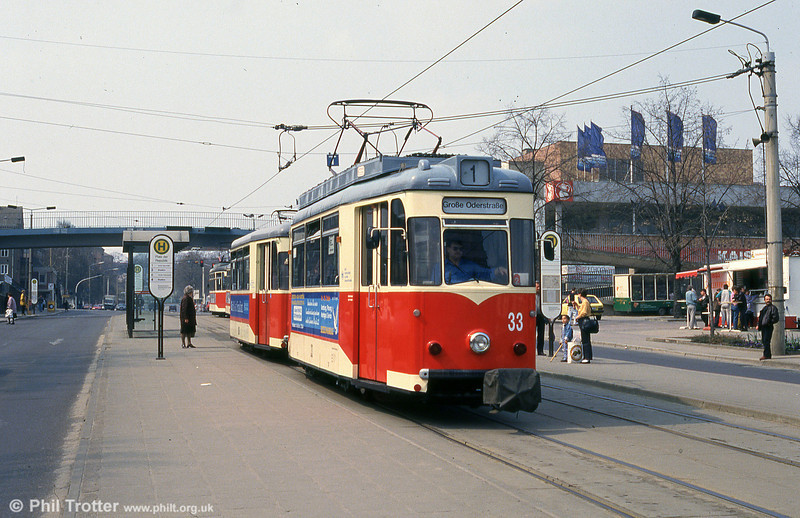 Frankfurt (Oder) 1961-built Gotha T57 no. 33 in Platz der Republik.