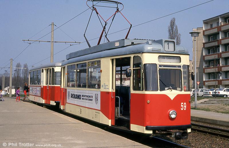 Frankfurt (Oder) 1958-built Gotha T57E no. 59 at Neuberesinchen.