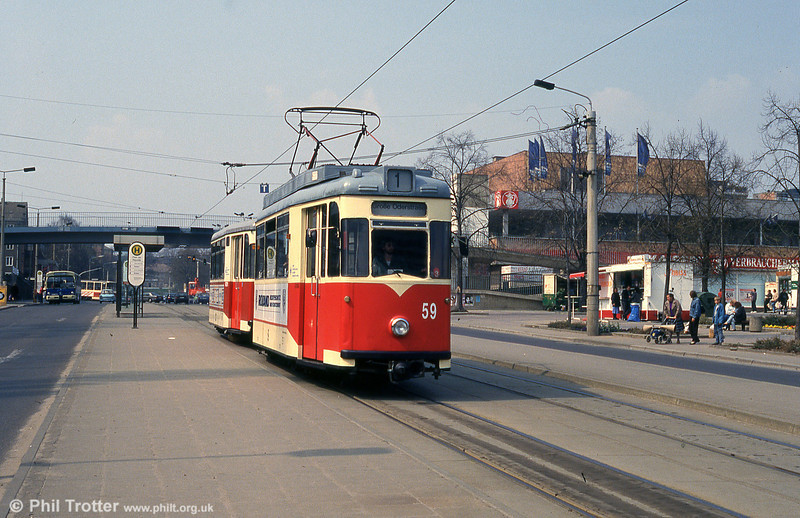 Frankfurt (Oder) 1958-built Gotha T57E no. 59 in Platz der Republik.