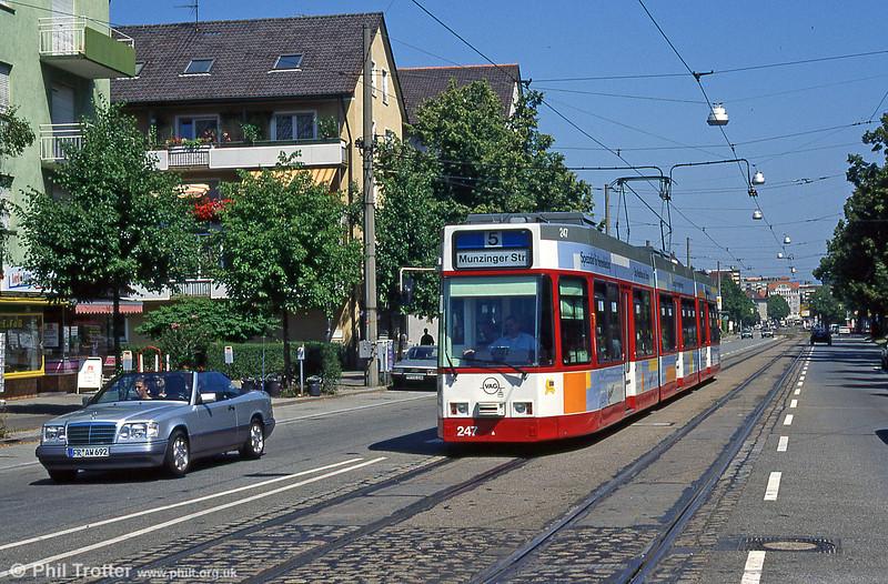 Freiburg 247 at Hornustrasse in August 1995.