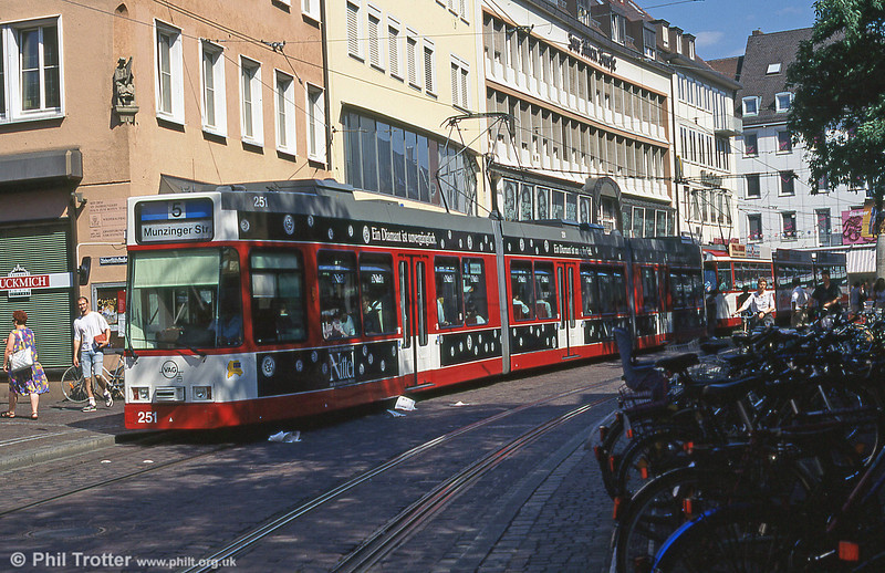 Freiburg 251 in the City Centre in August 1995.