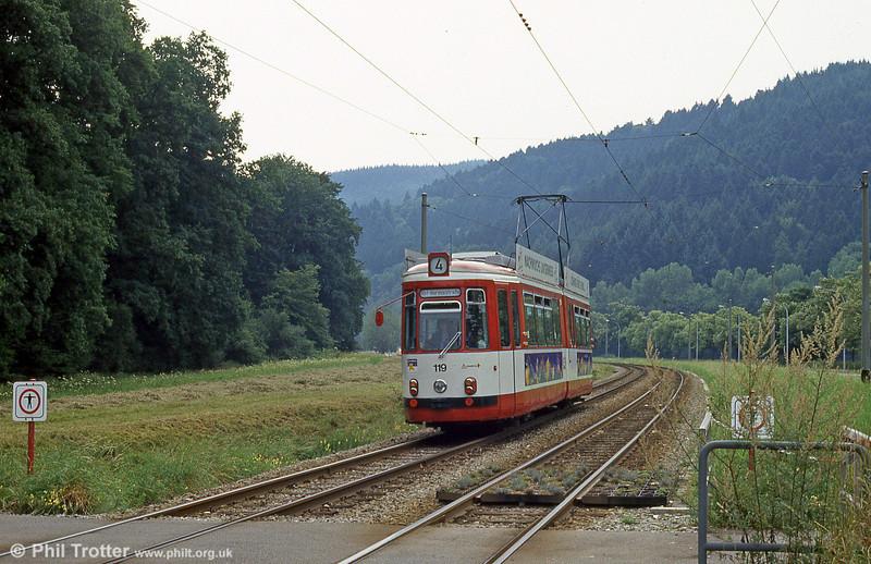 GT4 car 119 at Wonnhalde on 4th August 1993.