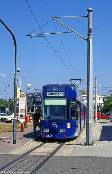 Freiburg 260 at Munzinger Strasse in August 1995.