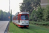 Freiburg 213 illustrating how tramways can enhance the urban environment at Moosweiher on 4th August 1993. (First published in Light rail & Modern Tramway, 3/94).