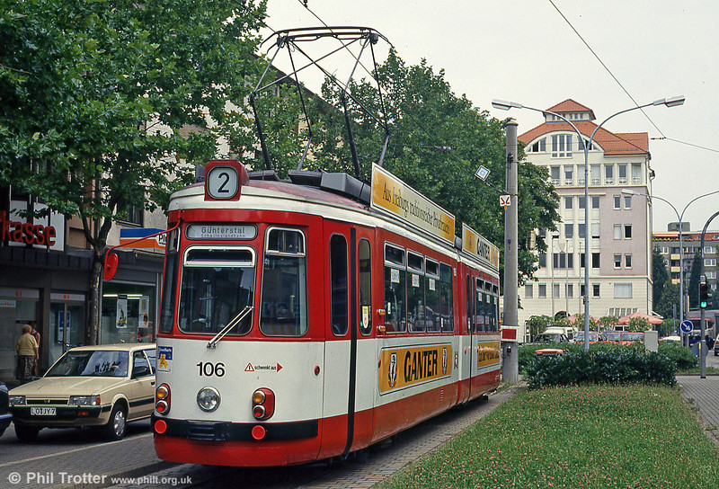 GT4 car 106 at Zahringen on 4th August 1993.