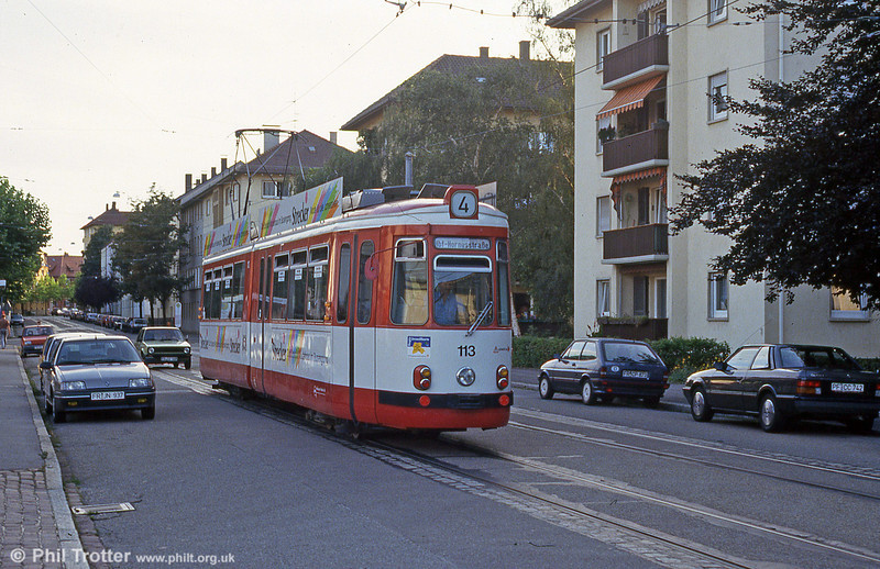 GT4 car 113 at Kornturstrasse on 2nd August 1993.