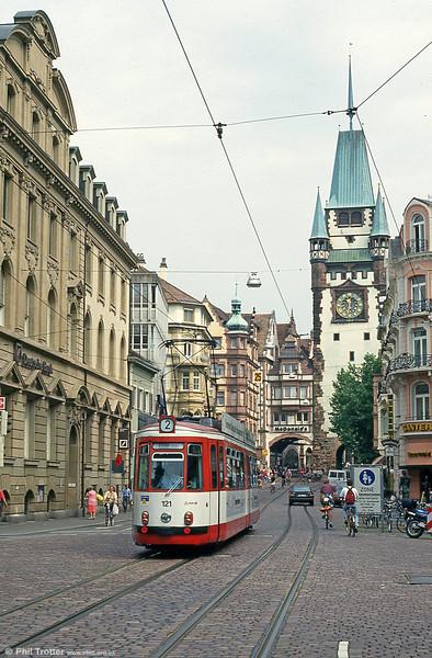 Freiburg 121 at Kaiser Joseph Strasse on 4th August 1993.