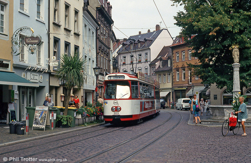 Car 203 near Bertoldsbrunnen on 2nd August 1993.