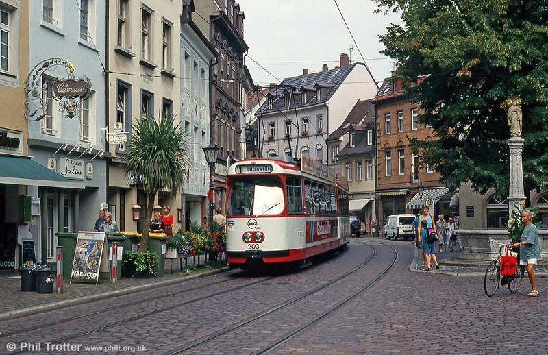 Car 203 near Bertoldsbrunnen on 2nd August 1993.