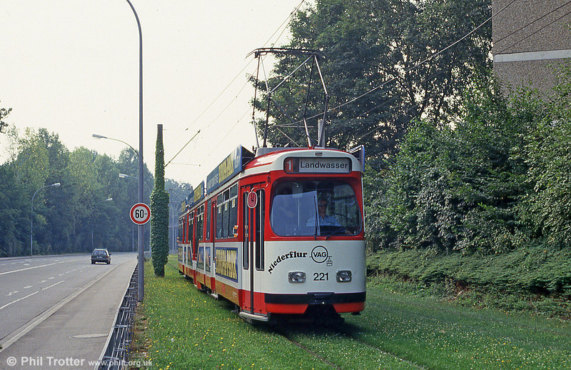 Freiburg 221 at Moosweiher on 4th August 1993.