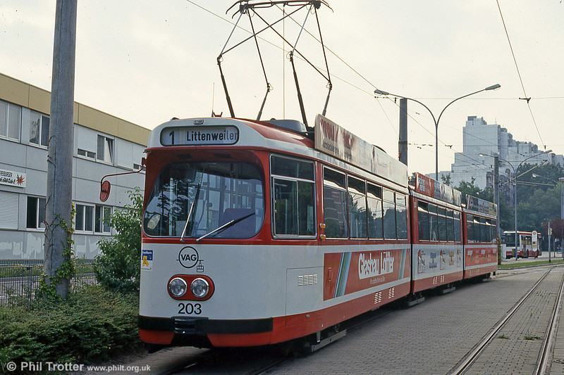 Freiburg 203 at Moosweiher on 4th August 1993.