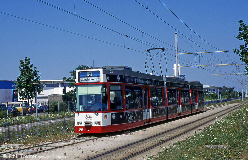 Freiburg 251 near Munzinger Strasse in August 1995.