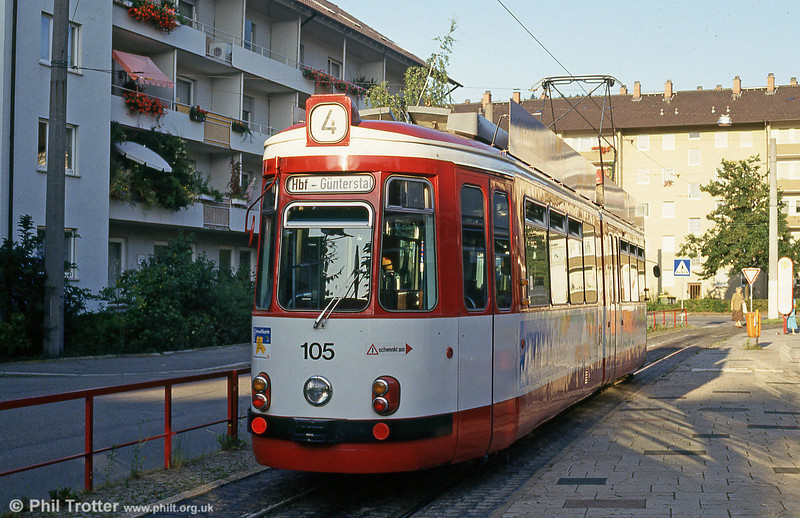 Freiburg GT4 105 at Hornustrasse on 2nd August 1993.