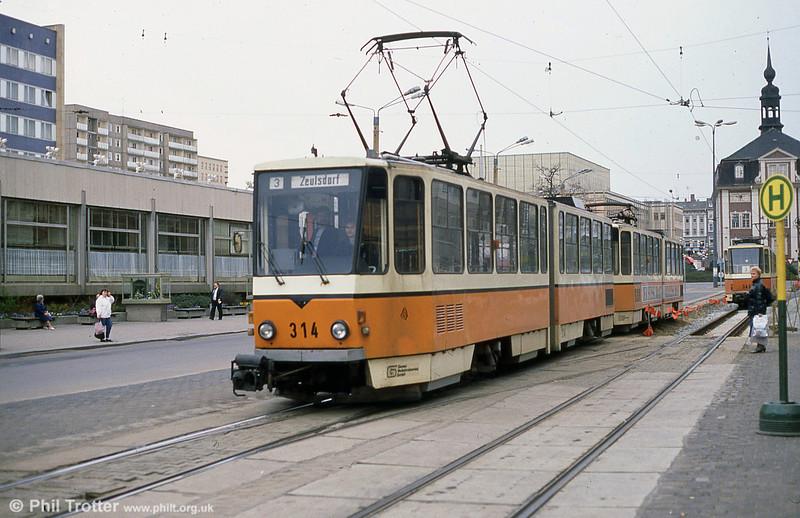 Gera 314 at Heinrichstraße in the town centre.