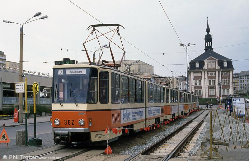 Gera 362 at Heinrichstraße in the town centre.