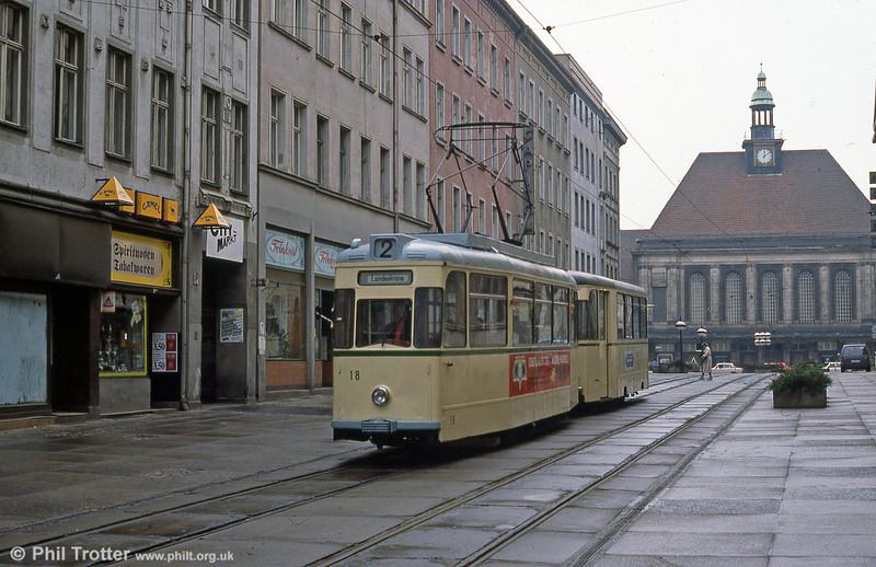 Gorlitz 18 at Berliner Strasse on 7th April 1991.