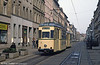 Gorlitz 15 (ex Halle) of 1958 at Berliner Strasse on 7th April 1991.