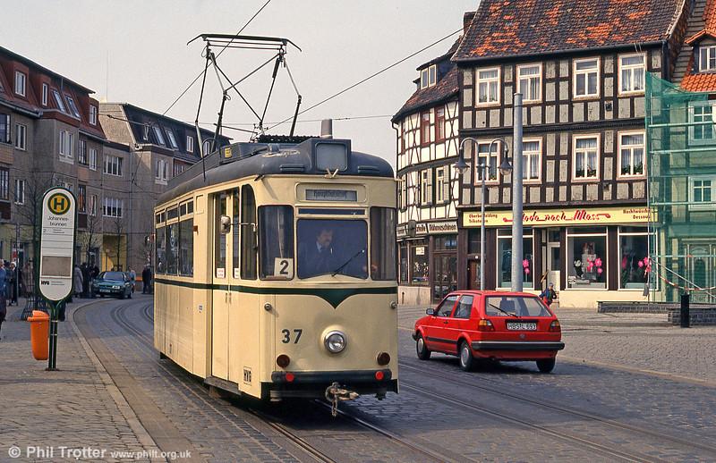 Halberstadt 37 of 1957 at Johannesbrunnen on 12th April 1993.
