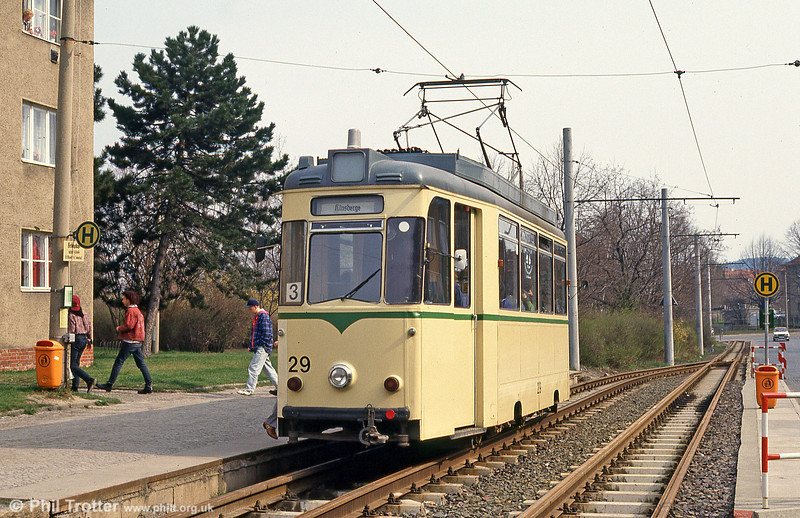 Halberstadt 29 at Herbingstrasse on 12th April 1993.