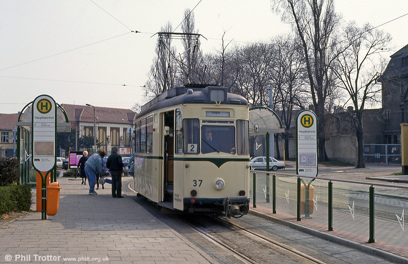 Halberstadt 37 of 1957 at Hauptbahnhof on 12th April 1993.