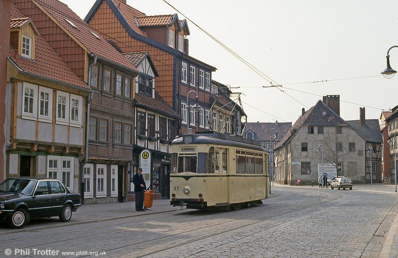 Halberstadt 37 of 1957 at Vogtei on 12th April 1993.