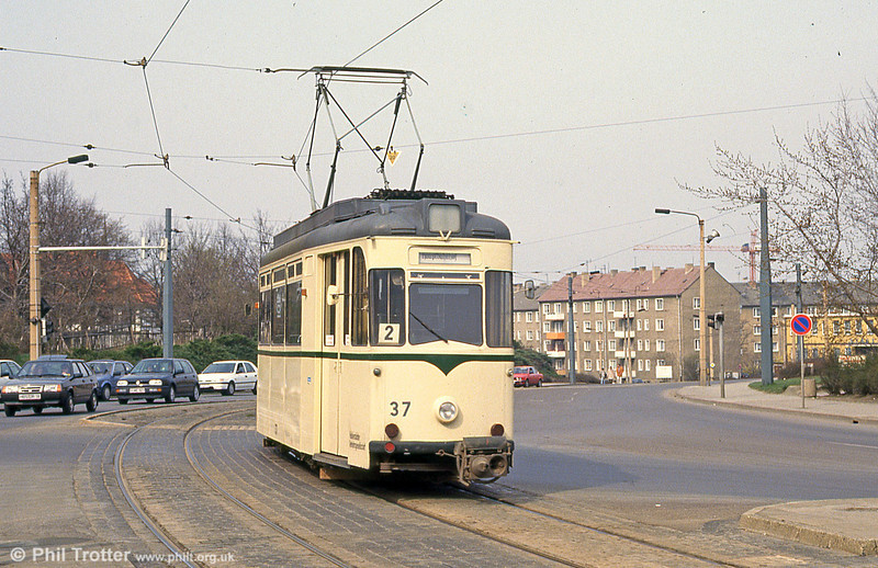 Halberstadt 37 of 1957 at Holzmarkt on 12th April 1993.