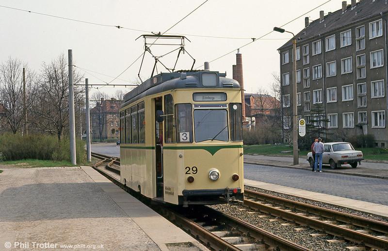 Halberstadt 29 at Herbingstrasse on 12th April 1993.