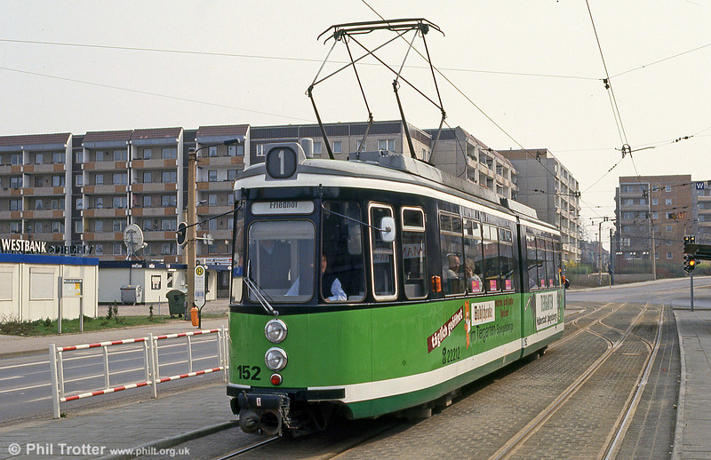 Ex-Stuttgart Halberstadt 152 at Holzmarkt on 12th April 1993.