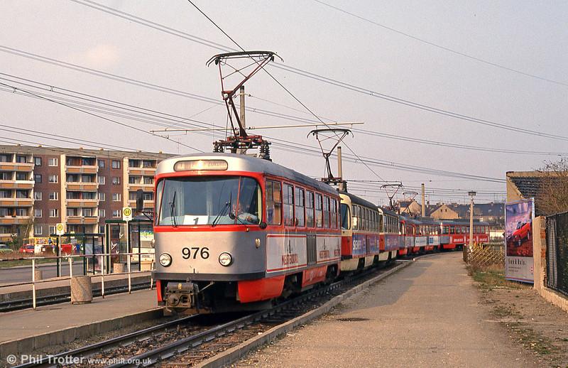 Tatra T4D 976 at Beesen on 13th April 1993.
