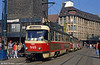 Tatra T4D 948 at Marktplatz on 6th April 1991.