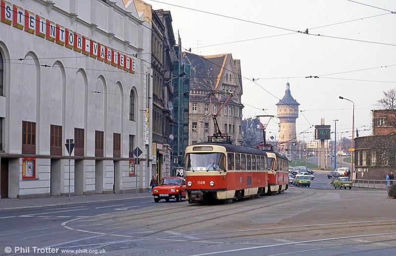 Tatra T4D 1108 at Steintor on 13th April 1993.