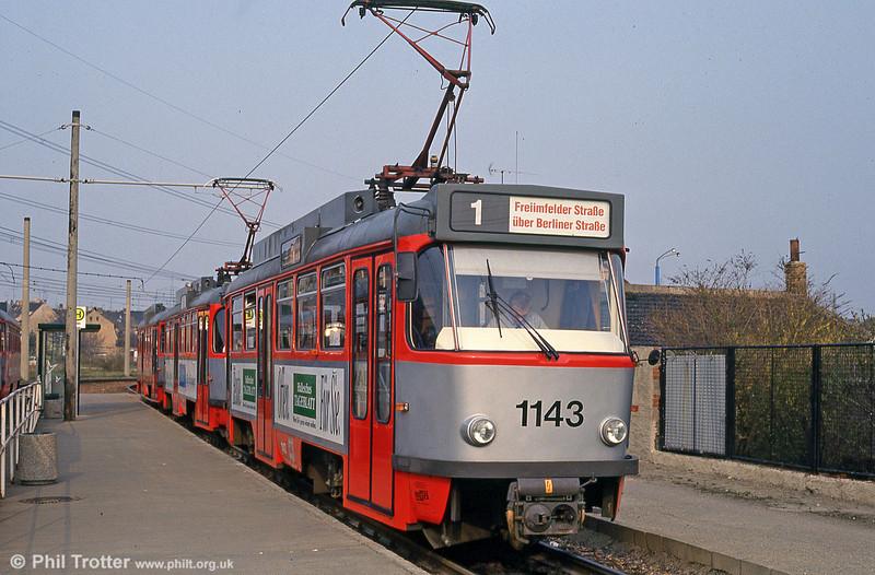 Tatra T4D 1143 at Beesen on 13th April 1993.