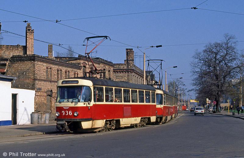 T4D 936 at Trotha on 6th April 1991.