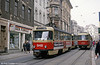 Tatra T4D 948 near Marktplatz on 13th April 1993.