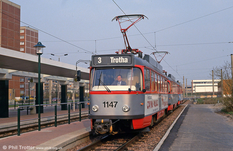 Tatra T4D 1147 at Sudstadt on 13th April 1993.