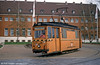 Halle works car 021, a Gotha car dating from 1956 and originally car 514 at Freiimfelder Straße depot on 13th April 1993.