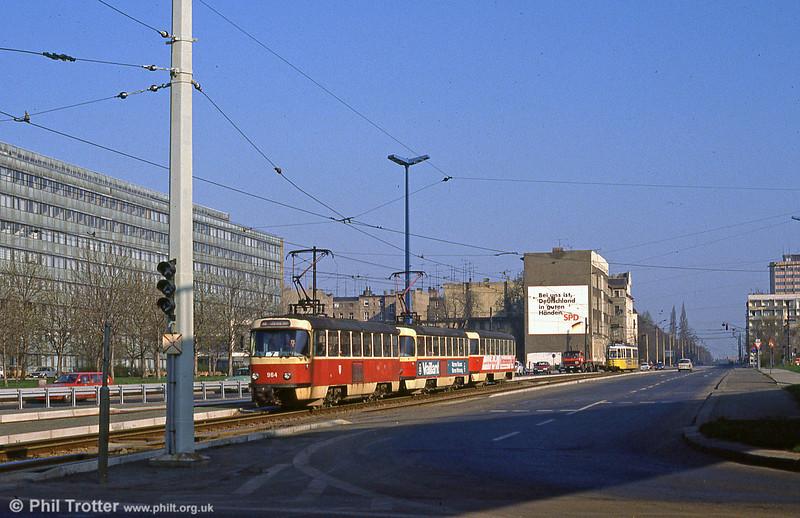 Tatra T4D 964 near Steintor on 6th April 1991.