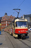 Tatra T4D 1173 at Marktplatz on 6th April 1991.