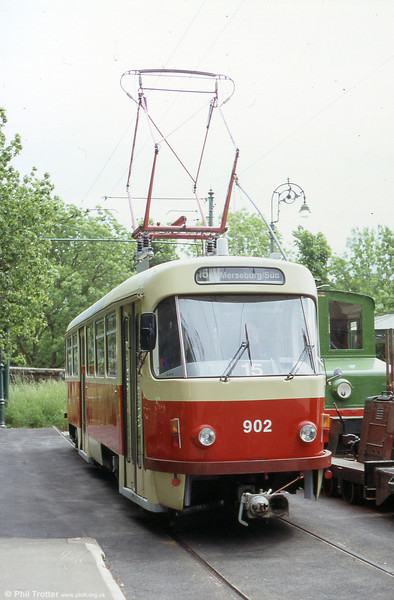 Tatra ZT4D 902 at Town End, National Tramway Museum, UK on 12th June 2005.