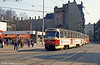 Halle Tatra T4D 1141 at Grosse Steinstrasse on 6th April 1991.