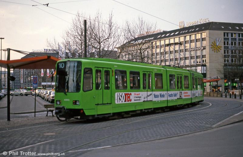 Hannover 6050 near the Hauptbahnhof on 11th April 1993.