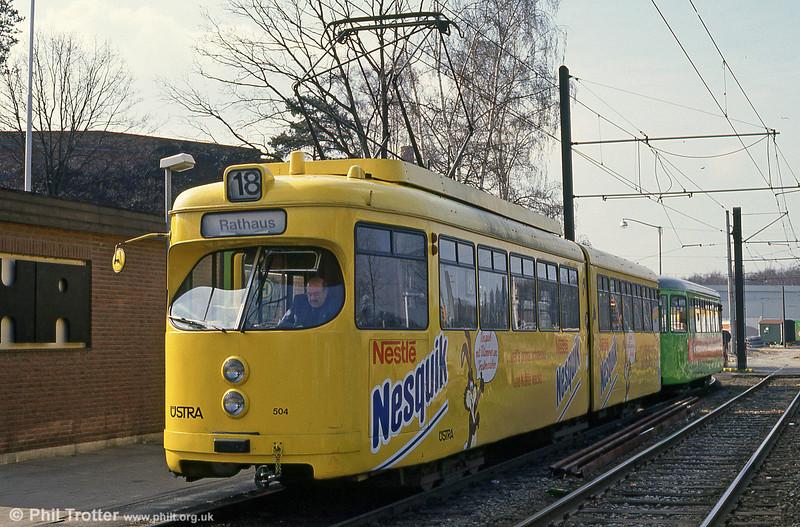 Hannover 504 at Nordhafen on 9th April 1993.